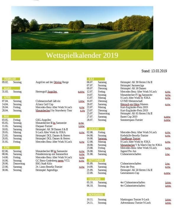 Wettspielkalender 2019 13.03.2019